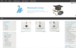 Moodle Weymouth College Screenshot